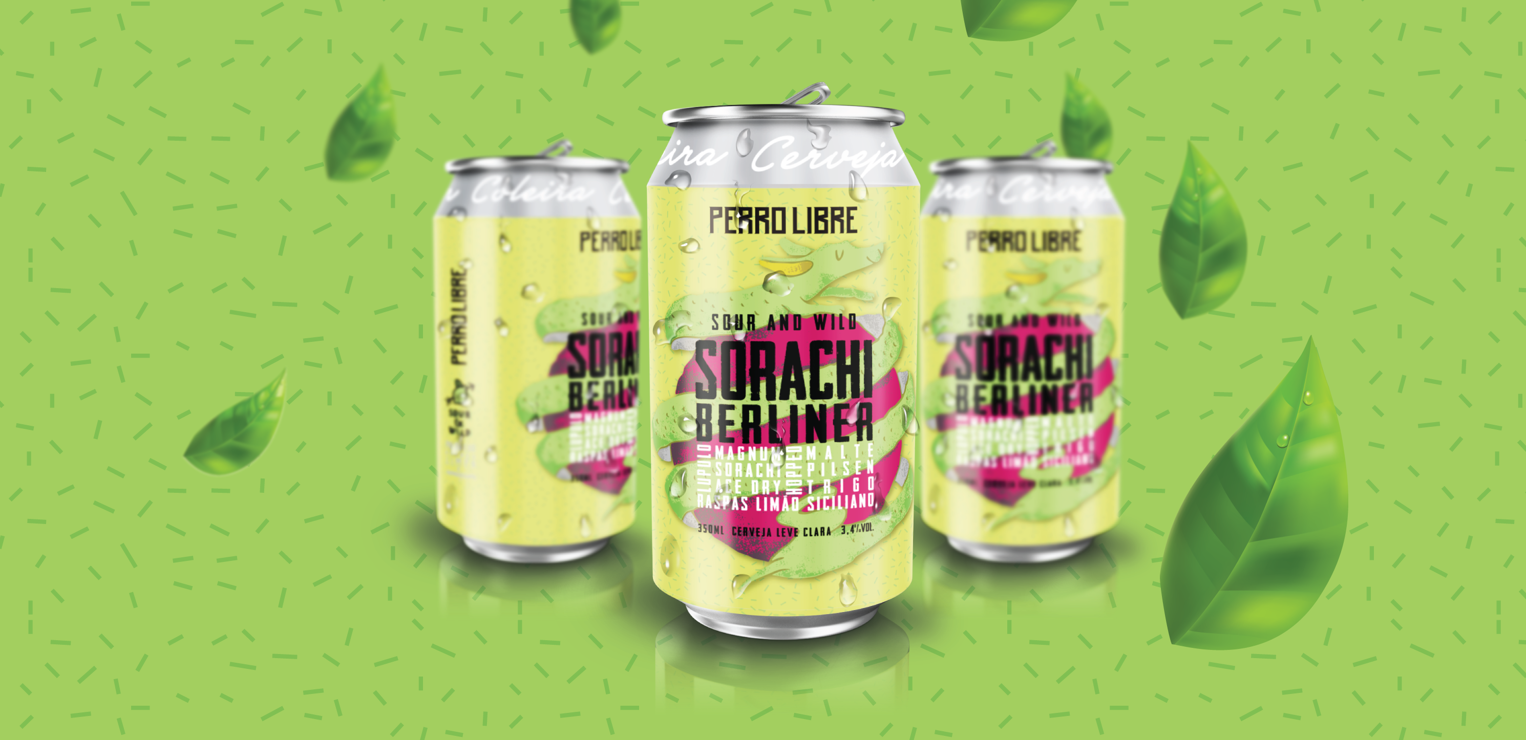 Design packing Cerveja Perro Libre Sorachi Berlinder Lata - Perro Libre