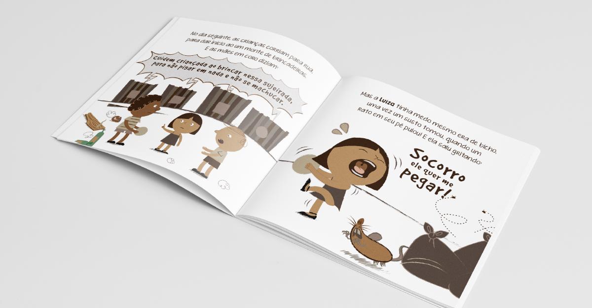 Design Projeto de livro infantil ilustrado para a empresa de engenharia STE. - STE S.A.