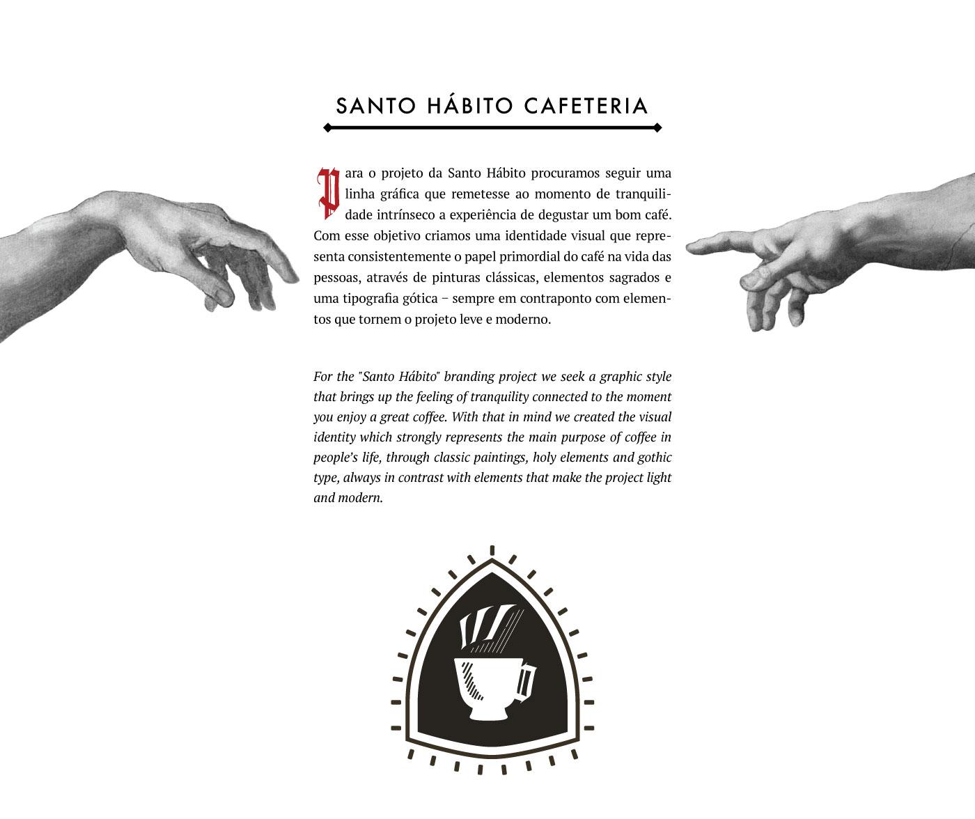 Identidade Visual Santo Hábito Cafeteria - Santo Hábito Cafeteria