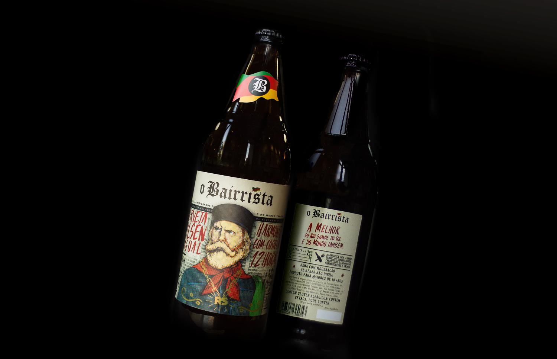 Design Comunicação Rótulo da Embalagem Cerveja do O Bairrista   - O Bairrista