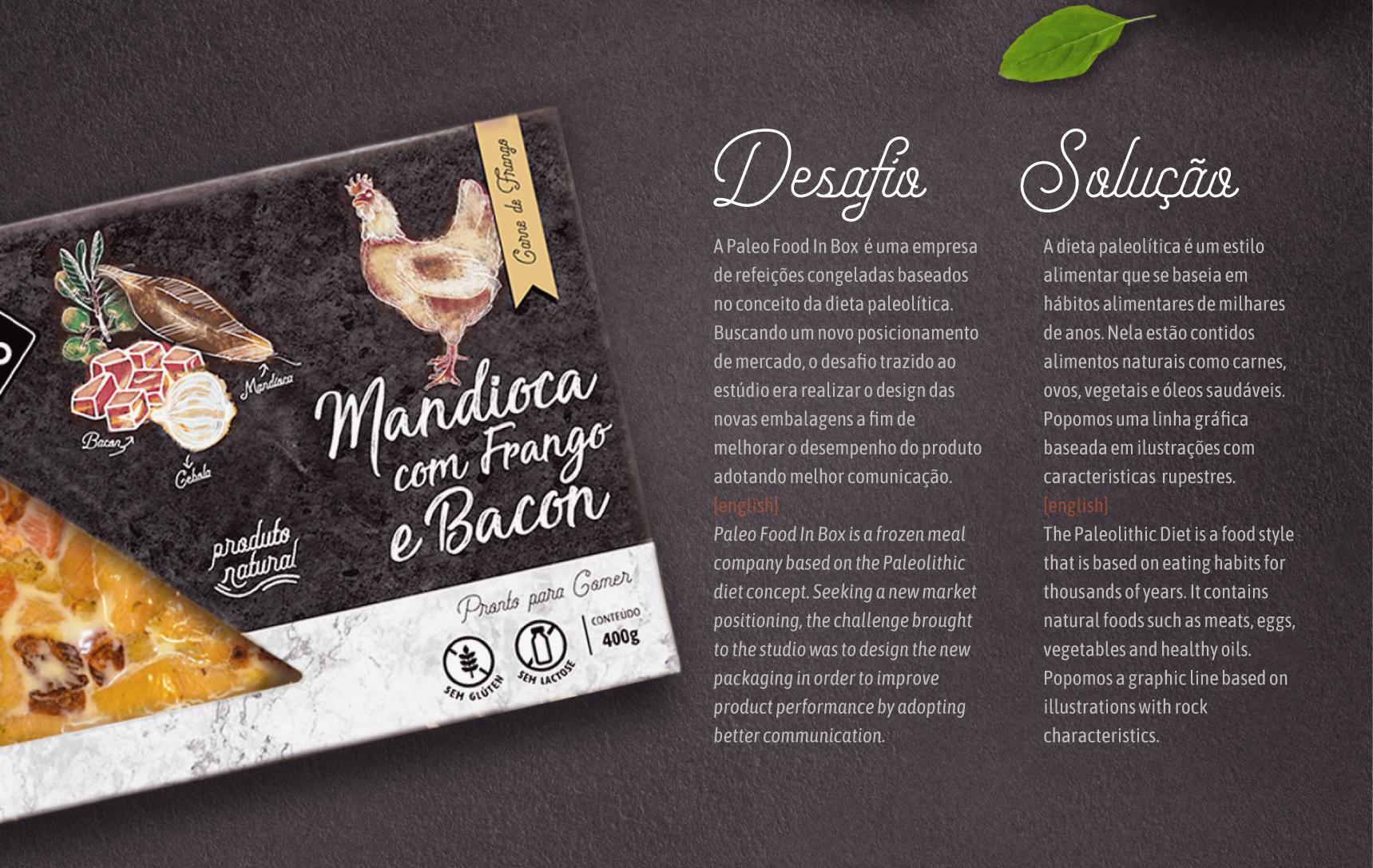 Design Embalagem Comida Congelada - Paleo Food
