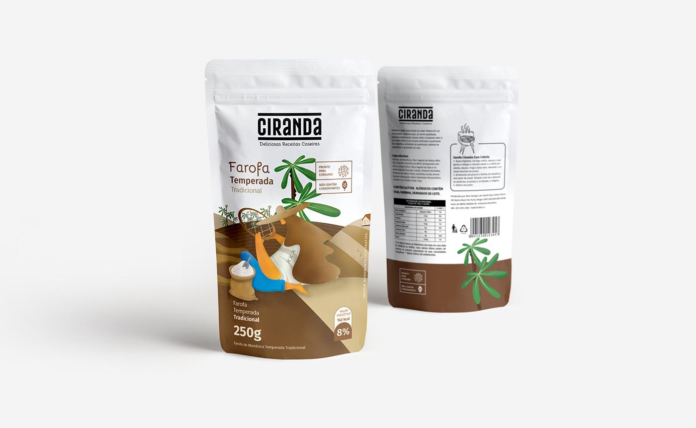 Projeto De Nome de Marca, Identidade Visual e Embalagem. - Ciranda Alimentos